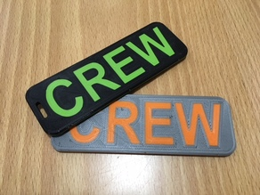 Dual Color Luggage Crew Tag