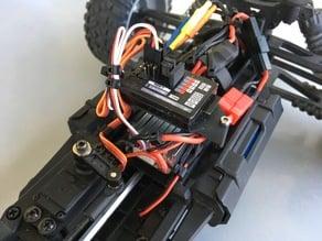 Receiver mount for HBX 12891 DUNE THUNDER brushless conversion