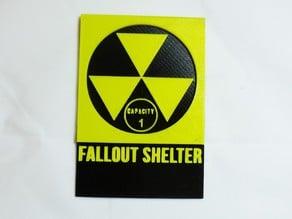 Fallout Shelter Signage