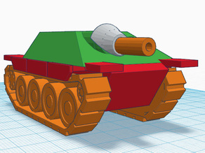 tinkercad ww2 tank