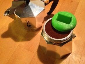 Bialetti 3 Cup Moka Maker Coffee Tamper