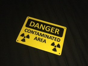 Contamination warning sign
