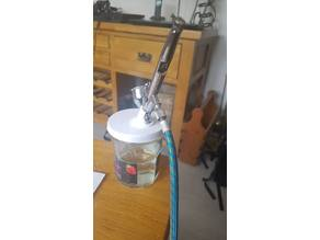 Airbrush cleaning holder