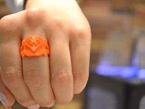 Aztec Heart & Soul Ring