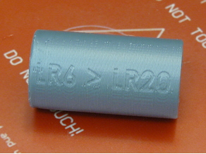 LR6 to LR20 battery adapter
