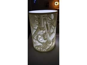XL RICK AND MORTY MONTAGE LAMP SHADE LITHOPHANE