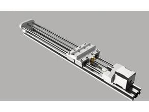 Linear Double Screw Rail (2040)