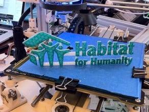 Habitat for Humanity Logo Sign