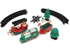 tracks for Christmas trains