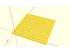 Customizable Hex Pattern Hole Grid