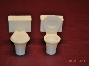 His and Her Toilets