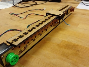 Lasercut I-beam linear axis, v1