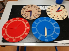 horloges braille ou caractères agrandis braille or enlarged characters clocks lasercut