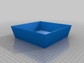 160mm Customized Tray: Parametric & Simple