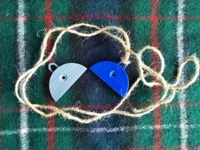Shepherd's whistle with handle
