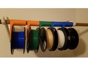 Filament Spool Closet Rod Hanger