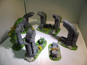 28 mm warhammer scale - arch / bow ruins