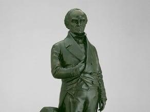 Daniel Webster, modeled and cast 1853
