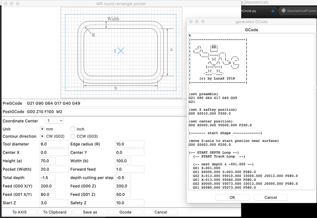 GCode Generator with Python by LunaX - Thingiverse