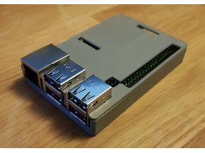 Minimal Raspberry Pi 3 B+ case