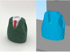 Wallace's Vest with Texture - Fixed for Simplify3d