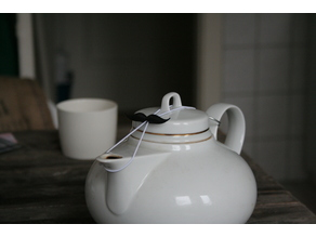 Moustache lid holder - Teekannendeckelhalter