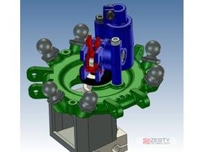 Nimble V1 Kossel effector for magnetic ball joints including Fan Ears