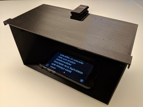 3D printed teleprompter with NATO rail mount V1