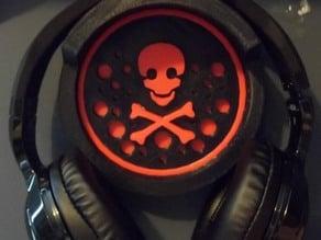 Headphone Wall Hanger w/ Skull Design
