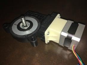 NEMA17 to 70:1 automotive worm Adapter