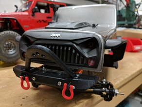 Jeep Wrangler front bumper for SCX10
