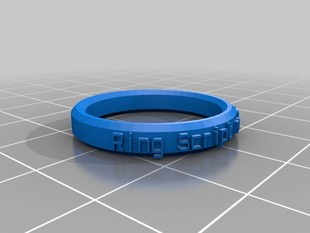 My Customized Ring Band Creation Script - MM sizes Customizer