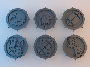 BB Tokens - 40mm x 4mm (plus spikes)