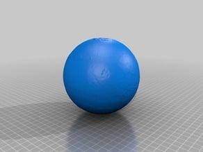 Lithophane / 3d model of Mars