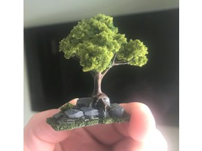 Wargaming Tree growing on Rocks / Ruin