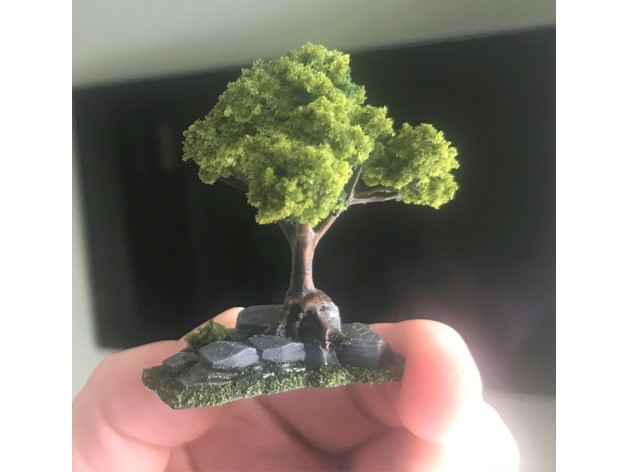 Wargaming Tree growing on Rocks / Ruin by BigMrTong - Thingiverse