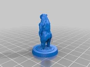 Black Bear (28mm scale for D&D/tabletop games)