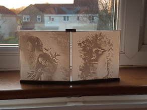 Dual Lithophane Holder - Minimalist