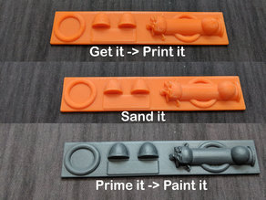 GoPaint Test Strip for Painters of Minis
