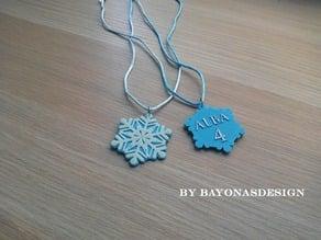 Frozen Snowflake Pendant