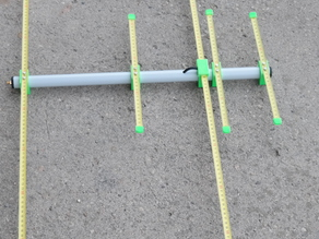 2+3 element 2m (145 MHz) and 70cm (435MHz) duoband ultra portable yagi'