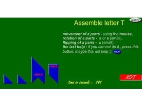 """Logic puzzle - assemble letter """"T"""""""
