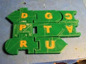 Dual Extrusion DNA Tiles