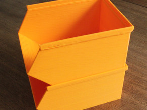 Stackable storage bins or trays for the garage, shed or office