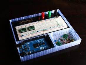 Arduino Mega, Breadboard, and Tray