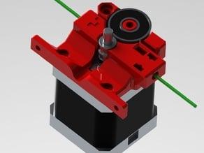 Compact Bowden Extruder MK8 drive gear IR gate