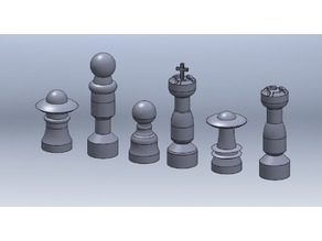 Sci-Fi Chess Set