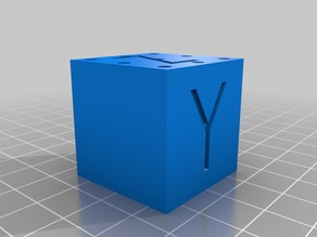 30mm Calibration cube for SLA printers - Hollow