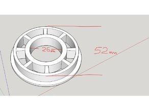 629zz / 80029 bearing 52mm spool holder