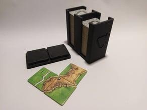 Carcassonne tile holder / storage box (travel edition)